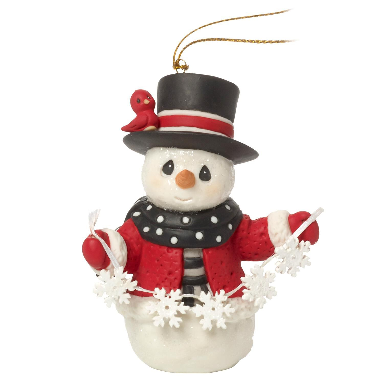 Precious Moments® White Christmas Snowman Ornament, 8th in Series ...