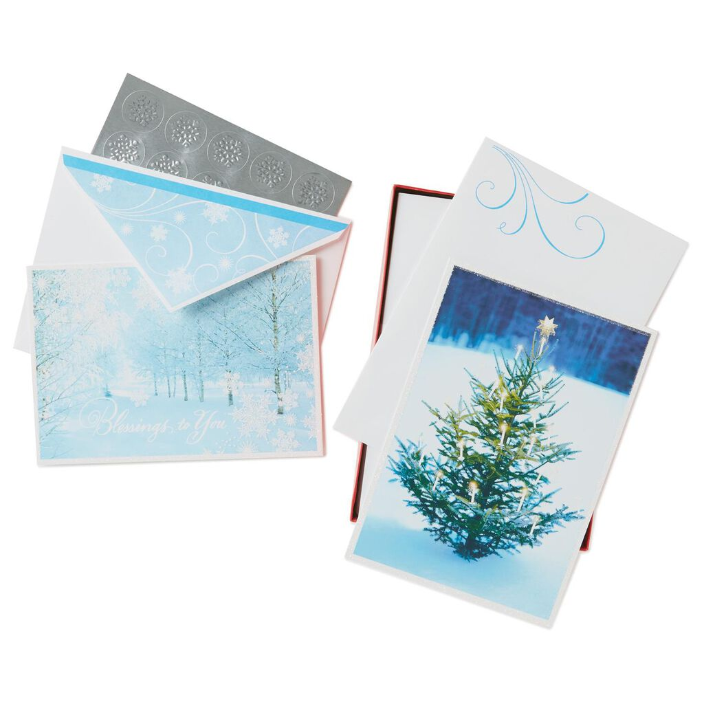 Christmas Blessings Assorted Greeting Cards Box Of 40 Boxed Cards
