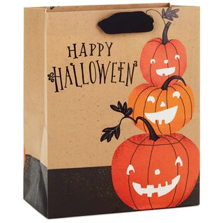 "Happy Halloween Pumpkins Medium Halloween Gift Bag, 9.5"","