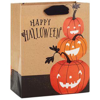 """Happy Halloween Pumpkins Medium Halloween Gift Bag, 9.5"""","""