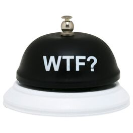 About Face WTF Desk Bell, , large