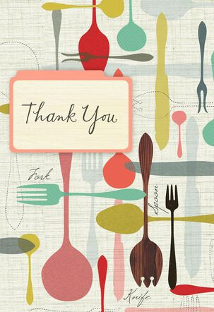 Flatware Dinner Party Thank You Card