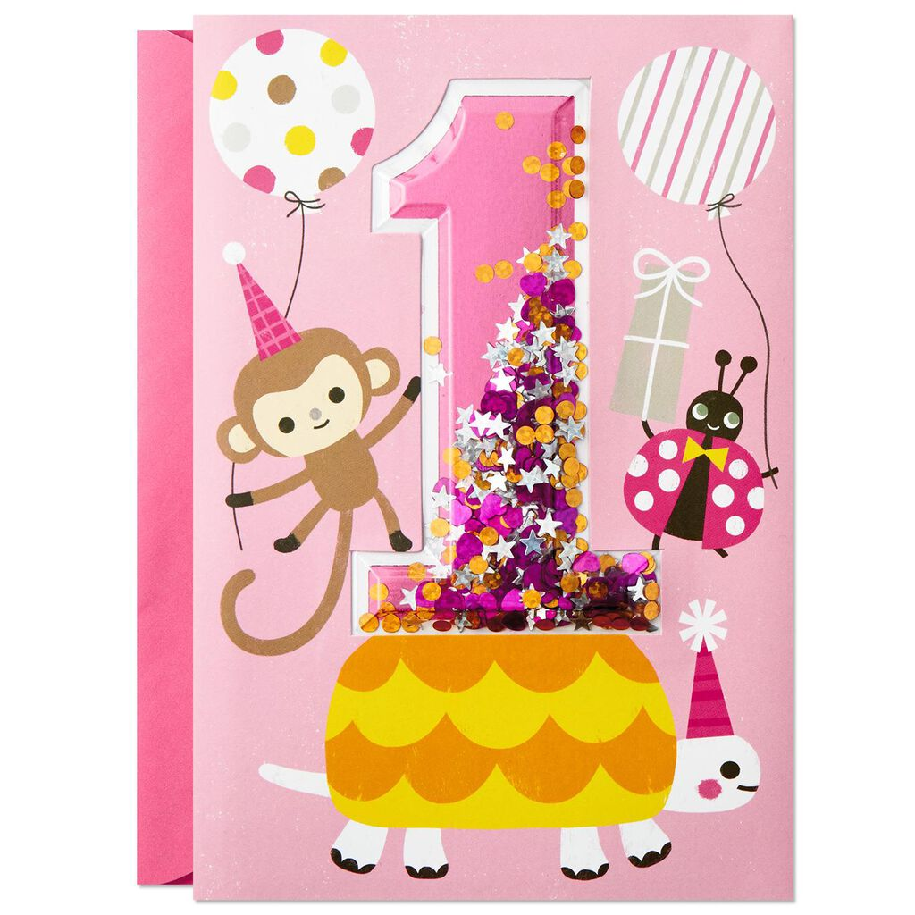 Turning 1 Birthday Card