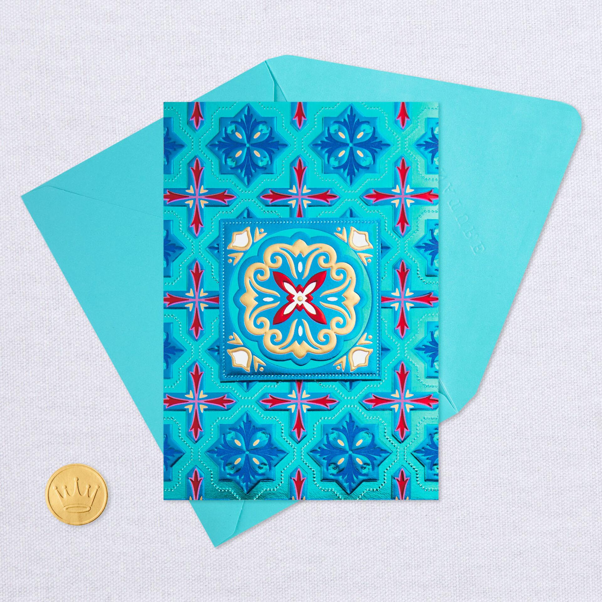 geometric gems blank card  greeting cards  hallmark