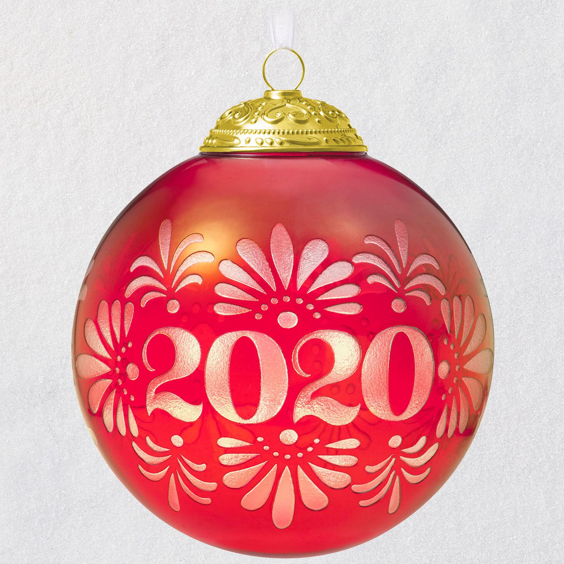 2020 christmas commemorative glass ball ornament keepsake ornaments hallmark 2020 christmas commemorative glass ball ornament