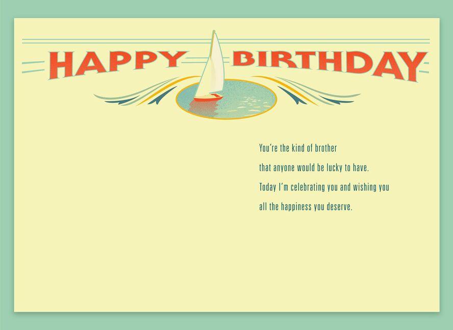 Sailboats Birthday Card For Brother Greeting Cards Hallmark