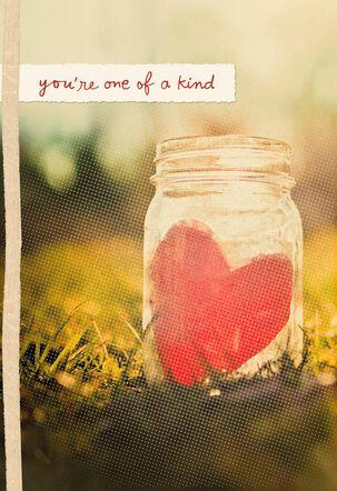 Heart in Mason Jar Valentine's Day Card