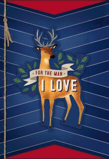 Romantic Christmas Card for the Man You Love,