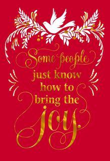 White Dove Christmas Card,