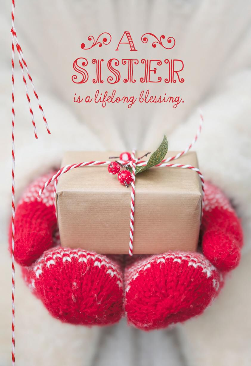 A Sister Is a Blessing Christmas Card - Greeting Cards - Hallmark