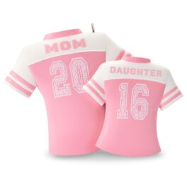 Mom & Daughter Pink Jerseys Ornament, , large