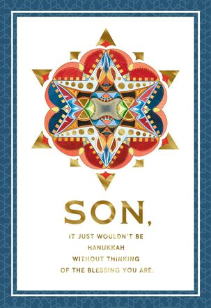 You Are a Blessing Hanukkah Card for Son