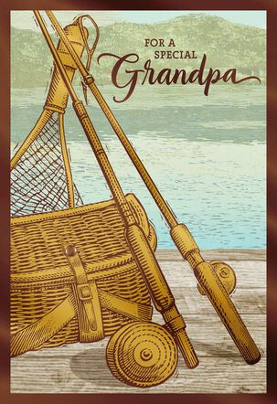 Fishing Poles Father's Day Card for Grandpa