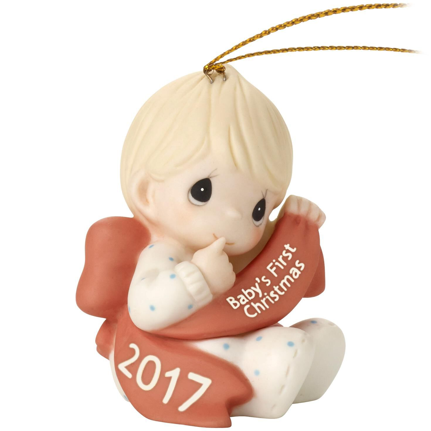 Precious Moments® Baby Boy First Christmas 2017 Ornament ...