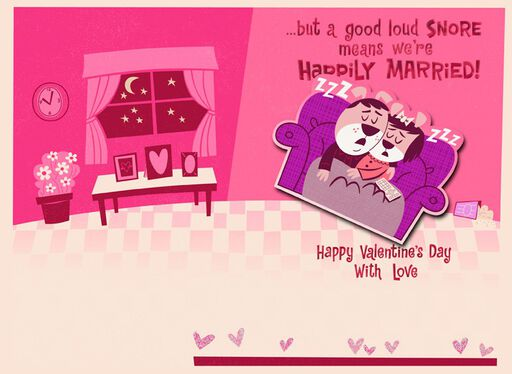 Happily Married Couple Valentine's Day Card,