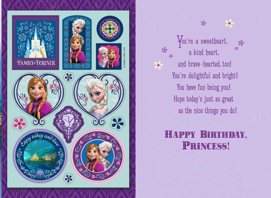 Disney Frozen Birthday Card With Stickers Greeting Cards Hallmark