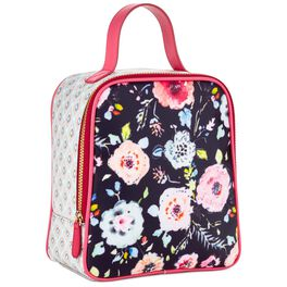 Haute Girls™ Floral and Geometric Lunch Bag, , large
