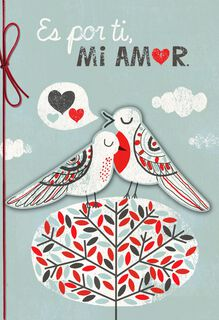 Because of You Romantic Spanish-Language Valentine's Day Card,