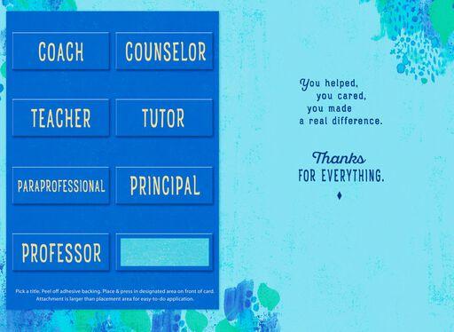 Pick-a-Title School Faculty Appreciation Card,