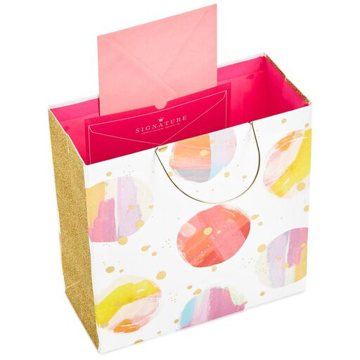 ... Watercolor Dots Large Square Gift Bag With Metal Handles 0f0964198ad89