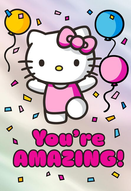 Hello Kitty Youre Amazing Birthday Card For Girl Greeting Cards