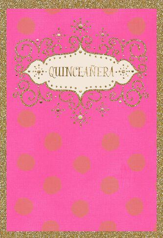 Glitter and glow spanish language quinceaera card greeting cards glitter and glow spanish language quinceaera card m4hsunfo