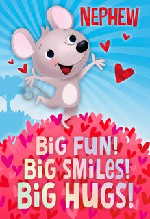 Big Fun Valentine's Day Card for Nephew,