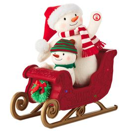 Twinkling Sleigh Ride Interactive Stuffed Animal, , large