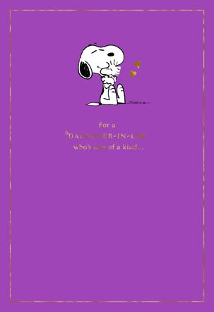 Peanuts® Snoopy and Woodstock Mother's Day Card for Daughter-in-Law