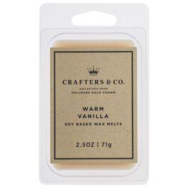 Crafters & Co. Warm Vanilla Wax Melt, 2.5-oz, , large