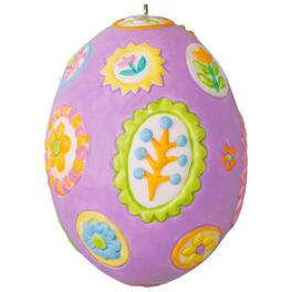 Festively Floral Easter Egg Ornament, , large