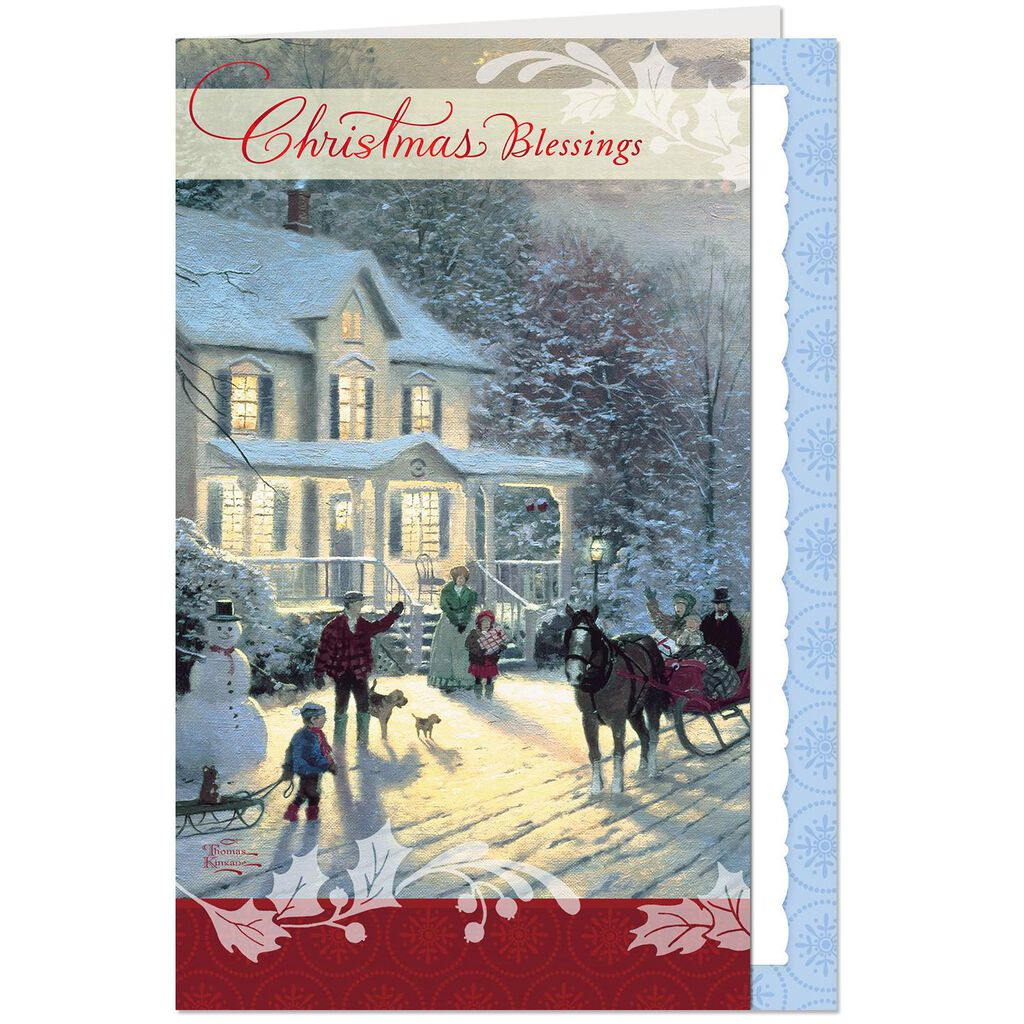 Thomas Kinkade Blessings Christmas Card - Greeting Cards - Hallmark