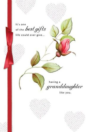 Blooming Granddaughter Valentine's Day Card