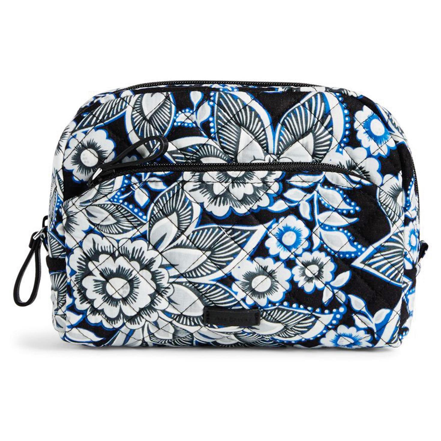 Vera Bradley Iconic Medium Cosmetic Bag In Snow Lotus Travel Hallmark