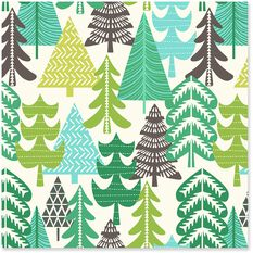 Trees Jumbo Christmas Wrapping Paper Roll 100 Sq Ft