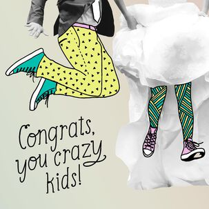 You Crazy Kids Wedding Congratulations Card