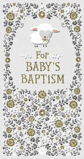 Little Lamb Religious Money Holder Baptism Card for Baby,