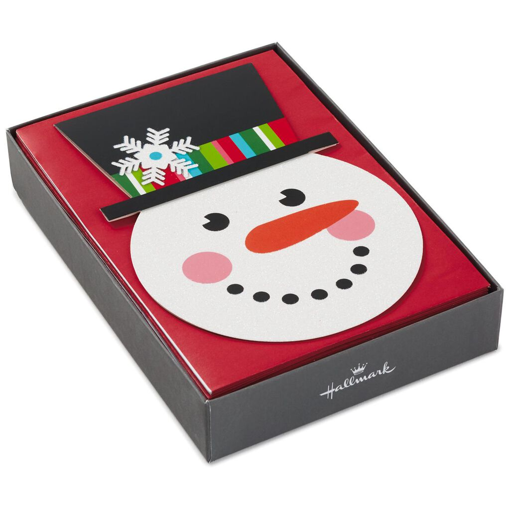 Smiling Snowman Christmas Cards, Box of 16 - Boxed Cards - Hallmark