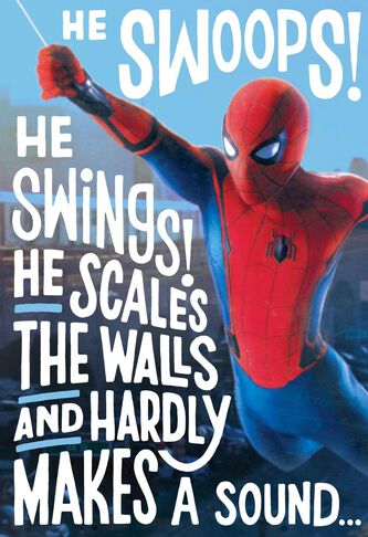 Spider Man Brings A Wish Musical Birthday Card Greeting Cards