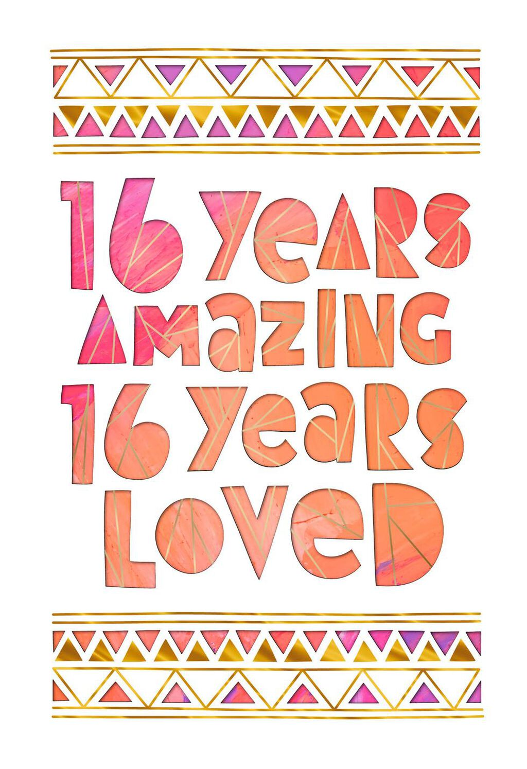 16 Years Amazing 16th Birthday Card