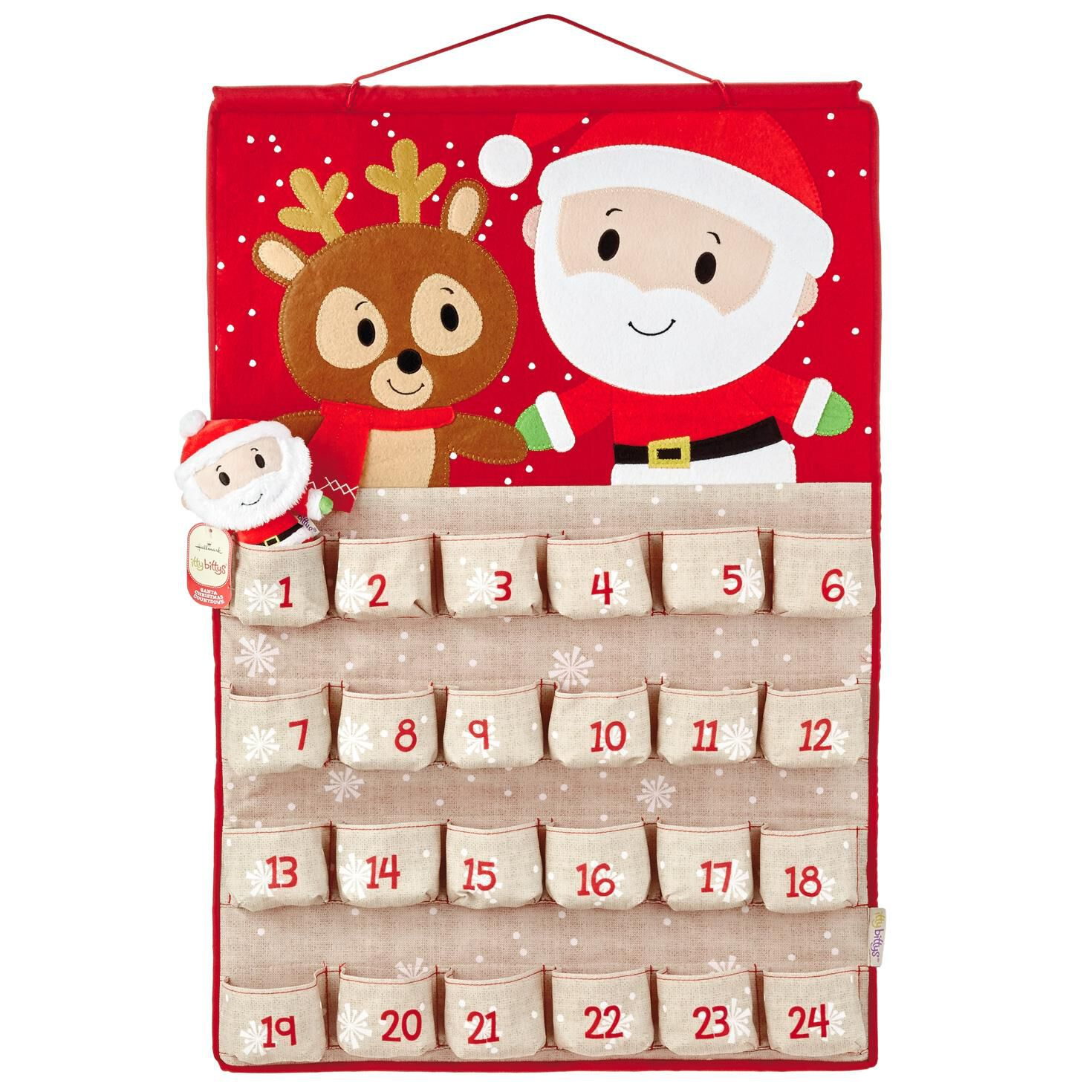 itty bittys® Santa Christmas Countdown Calendar - Decorative ...