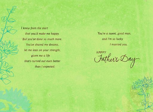 To My Sweet, Good Man Father's Day Greeting Card from Wife,