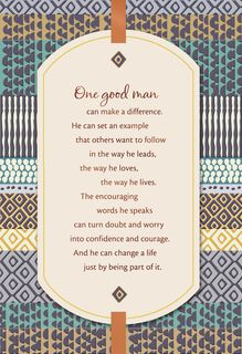 One Good Man Can Make a Difference Father's Day Card,
