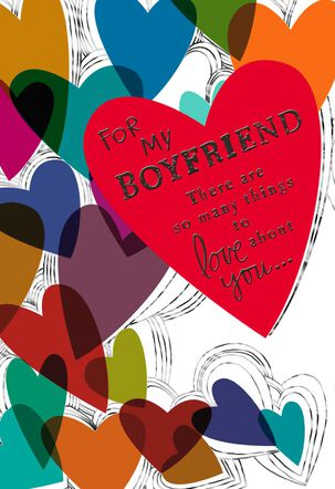 Things to Love About You Sweetest Day Card for Boyfriend