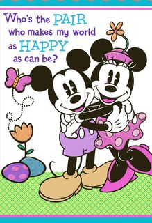 Mickey & Minnie Easter Card for Grandparents,