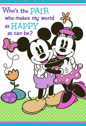 Mickey minnie easter card for grandparents greeting cards hallmark mickey minnie easter card for grandparents negle Image collections