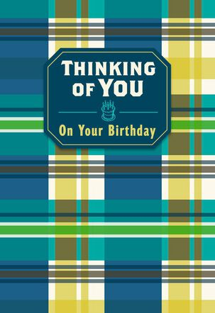 You're Being Thought of Today Birthday Card