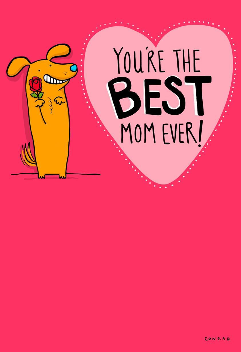 Best Mom Ever Valentines Day Card   Valentines Day Mom