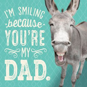 Smiling Donkey Funny Musical Father's Day Card