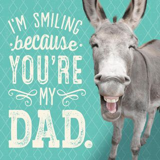 Smiling Donkey Funny Musical Father's Day Card,